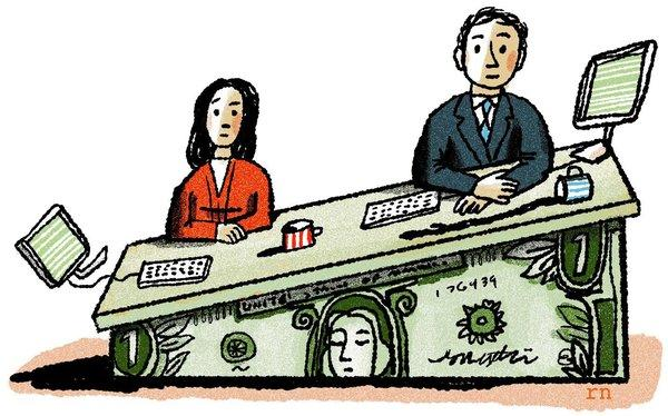 Gender pay gap, illustrazione del New York Times